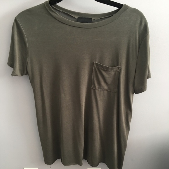 Lumiere Tops - Green T-shirt with Pocket